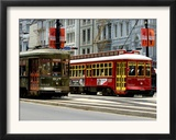 One of the 1920s Era Streetcars Framed Photographic Print