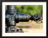A Control Valve of an Oil Pump Framed Photographic Print