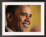 President Barack Obama Speaking at a St. Patrick's Day Reception in East Room of White House Framed Photographic Print