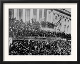 A Scene in Front of the Capitol During Lincoln's Second Inauguration,1865 Framed Photographic Print