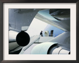 President Bush Boards Air Force One as He Departs Jefferson City Framed Photographic Print