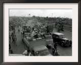 Refugees Fleeing the Advance of Communist Forces Pour into Saigon Framed Photographic Print