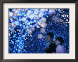 A Couple Goes Through the Sea of Illumination, Tokyo's Business District of Shiodome Dec. 1, 2006 Framed Photographic Print