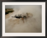 US Marines Return Fire on Taliban Positions Near the Town of Garmser in Afghanistan Framed Photographic Print