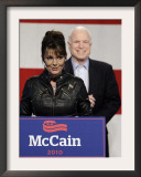 Sarah Palin Talks at a Campaign Rally for Senator John McCain at Pima County Fairgrounds in Tucson Framed Photographic Print
