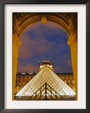 View of the Pyramid and the Louvre Museum Building Framed Photographic Print