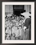 Some of Poland's Thousands of Orphan Children at the Catholic Orphanage Framed Photographic Print