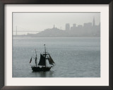 Hawaiian Chieftan, Tallship Saling on the San Francisco Bay, c.2007 Framed Photographic Print by Eric Risberg