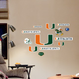 Miami - Fathead Junior Logosheet Wall Decal
