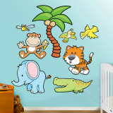 Jungle Animals 2 Wall Decal