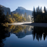 Autumn Sunrise, Half Dome, and the Merced River Wall Decal