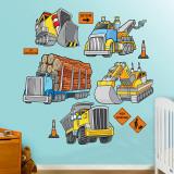 Camions Adhésif mural