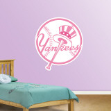 Pink Yankees Logo   Wall Decal
