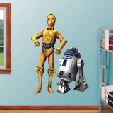 C3PO/R2D2 Combo- Clone Wars Wall Decal