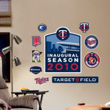 Minnesota Twins Target Field Inagural Season - Fathead Junior Wall Decal