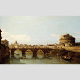 View of the Tiber in Rome with the Castel Sant' Angelo Wall Decal