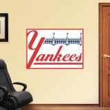 Yankees Throwback Logo Wall Decal