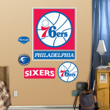 Philadelphia 76ers 2010 Logo Wall Decal