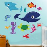 Criaturas do mar 1 Decalques de parede