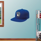 Milwaukee Brewers Alt. New Era Cap Wall Decal