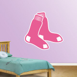 Pink Red Sox Logo   Wall Decal