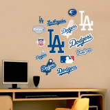Dodgers - Fathead Junior Logosheet   Wall Decal