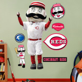 Mr. Redlegs Reds Mascot Wall Decal