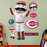 Mr. Redlegs Reds Mascot Wall Decal