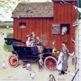 Model T on the Farm, Boss of the Road, A Sunday Afternoon Farm Scene Wall Decal