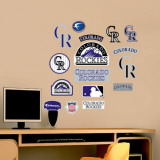Rockies - Fathead Junior Logosheet Wall Decal