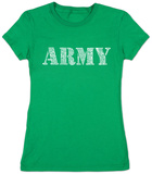 Juniors: Lyrics To The Army Song T-Shirt