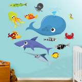 Criaturas do mar 2 Decalques de parede