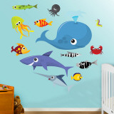 Sea Creatures 2 Wall Decal