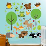 Sbírka divokých zvířat Lepicí obraz na stěnu