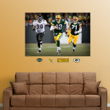 Aaron Rodgers Scramble Mural Wall Decal