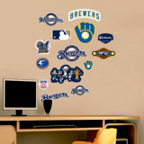 Brewers - Fathead Junior Logosheet   Wall Decal