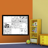 Activity Board Dry Erase Wall Decal