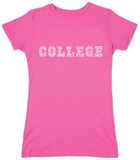 Juniors: College Drinking Games T-Shirt