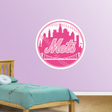Pink Mets Logo   Wall Decal