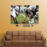Raiders-Broncos Line of Scrimmage Mural Wall Decal