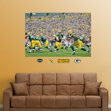 Packers backfield Mural Wall Decal