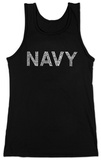 Juniors: Tank Top - Navy Anchors Aweigh Damestanktops