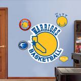 Golden St. Warriors Classic Logo Wall Decal