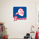 Atlanta Braves Throwback Logo Wall Decal