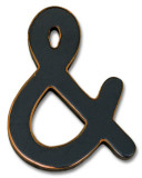& (Ampersand) Wood Sign