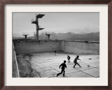 Afghan Boys Play Soccer Framed Photographic Print