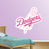 Pink Dodgers Logo Wall Decal
