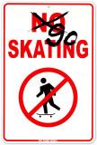 Go Skating Plaque en métal