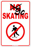 Go Skating Tin Sign