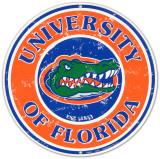 Universidad de Florida Cartel de metal